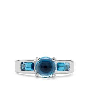 2.57ct Swiss Blue Topaz Sterling Silver Ring