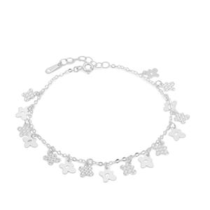 "7"" Sterling Silver Altro Diamond Cut Bracelet 2.68g"