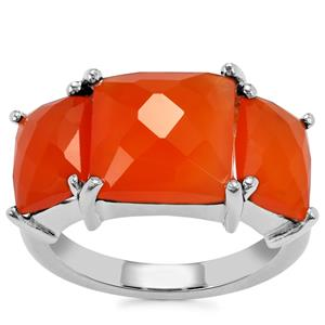 Carnelian Ring in Sterling Silver 7.56cts