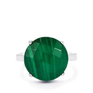 11.86ct Malachite Sterling Silver Ring