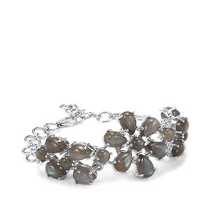 27.92ct Labradorite Sterling Silver Aryonna Bracelet