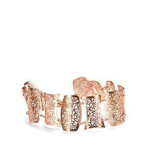 Rose Gold Tone Sterling Silver Bayeux Bracelet 10.91g