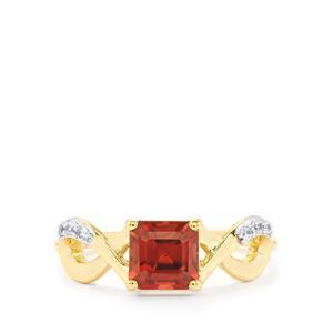 1.93ct Zanzibar & White Zircon 10K Gold Ring