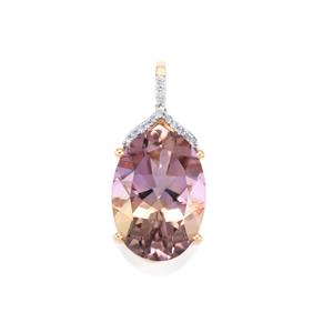 Anahi Ametrine Pendant with Diamond in 10K Rose Gold 4.83cts