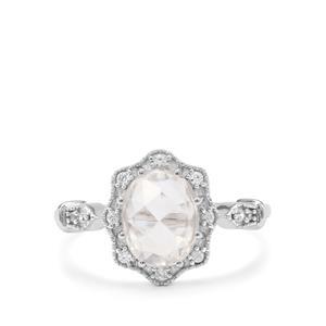 Rose Cut Ratanakiri Zircon Ring in 9K White Gold 1.95cts