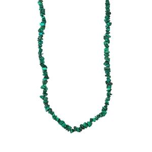 725ct Malachite Nugget Bead Necklace