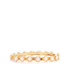 Kaori Cultured Pearl Bangle in Gold Plated Sterling Silver
