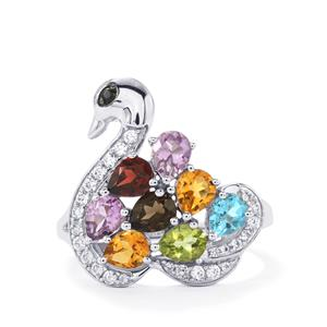 3.05ct Kaleidoscope Gemstones Sterling Silver Odette Ring