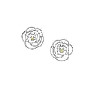 0.15cts Pakistani Peridot Sterling Silver Earrings