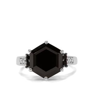 9.78ct Black Spinel Sterling Silver Ring