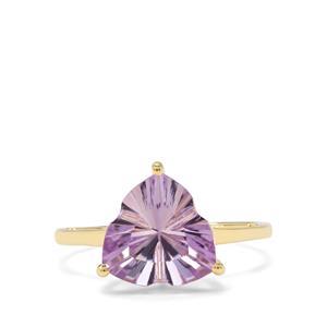 2.98ct Lehrer Infinity Cut Rose De France Amethyst 9K Gold Ring