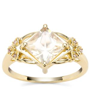 Serenite Ring with Champagne Diamond in 9K Gold 1.59cts