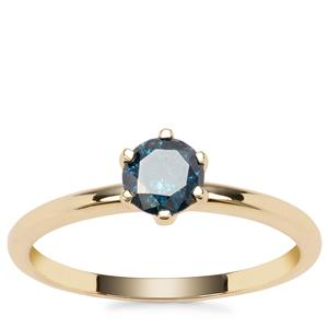 Blue Diamond Ring in 9K Gold 0.57ct