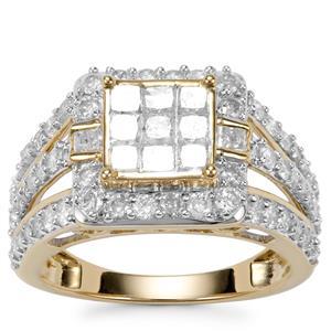 Diamond Ring in 10K Gold 1.95ct