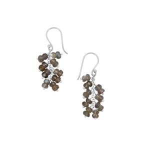 Labradorite Inspired By Colour Earrings in Sterling Silver 9cts