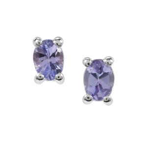 Tanzanite Earrings in Sterling Silver 0.37ct