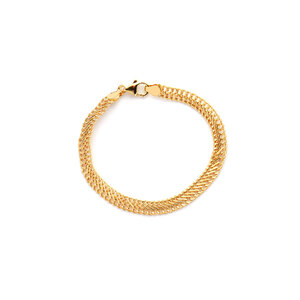 "7.5"" 9K Gold Altro Fancy Curb Bracelet 3.63g"