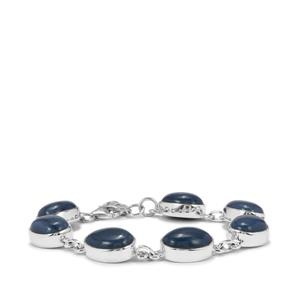 33.85ct Bengal Blue Opal Sterling Silver Aryonna Bracelet
