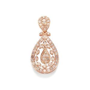 Pink Diamond Pendant in 10K Rose Gold 0.77ct