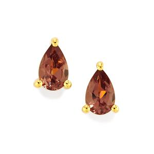 Bekily Color Change Garnet Earrings in 10k Gold 0.51ct