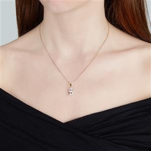 Mutala Morganite Pendant with Diamond in 10k Gold 1.92cts