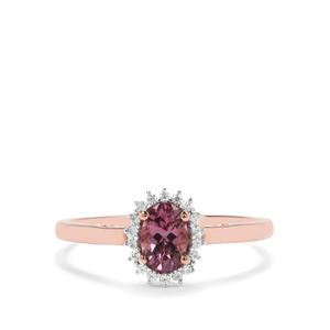 Mahenge Hope Spinel & White Zircon 9K Rose Gold Ring ATGW 0.67cts