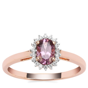 Mahenge Hope Spinel Ring with White Zircon in 9K Rose Gold 0.67cts