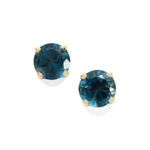 Marambaia London Blue Topaz Earrings in 10K Gold 4.72cts