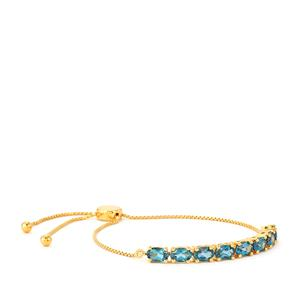 Marambaia London Blue Topaz Slider Bracelet in Gold Vermeil 4.39cts