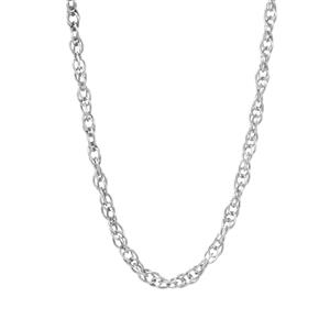"""20"""" Sterling Silver Classico Slider Prince Of Wales Chain 1.46g"""