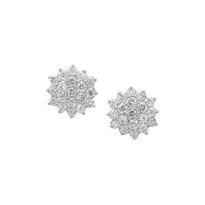 Diamond Earrings in Platinum 950 0.50ct