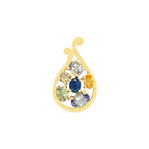 Harlequin Pendant in 10K Gold 2.46cts