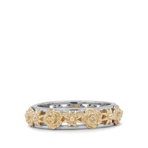 Ring in 9K Two Tone Gold (Used Metal White Gold And Yellow)