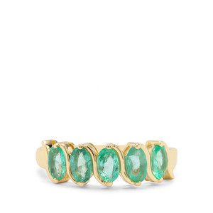 1.15ct Colombian Emerald 9K Gold Ring