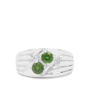 Chrome Diopside Ring in Sterling Silver 1ct