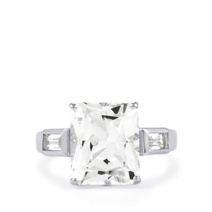 White Topaz Ring in Sterling Silver 6.50cts