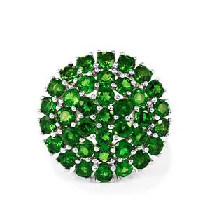 5ct Chrome Diopside Sterling Silver Ring