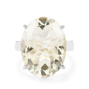 15ct Optic Quartz Sterling Silver Ring