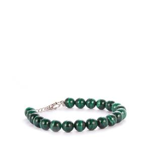 Malachite Bracelet in Sterling Silver 110.45cts