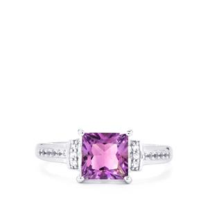 Moroccan Amethyst & White Topaz Sterling Silver Ring ATGW 1.69cts