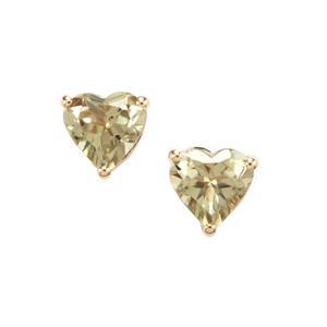 1.67ct Csarite® 10K Gold Earrings
