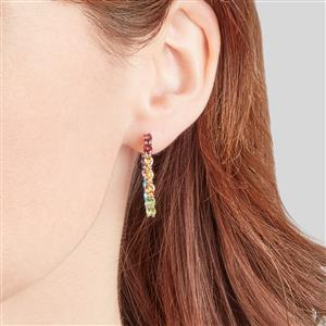 Kaleidoscope Gemstones Earrings in Sterling Silver 5.10cts