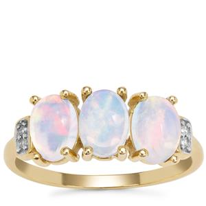 Kelayi Opal Ring with Diamond in 9K Gold 1.39cts