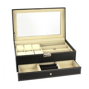 Jewelry Watch Sunglasses Double Layer Storage Box