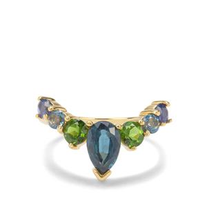 Rachel Bromley 2.44ct Peacock Inspired Gemstones Midas Rachel Bromley Ring