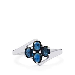 1.25ct Australian Blue Sapphire Sterling Silver Ring