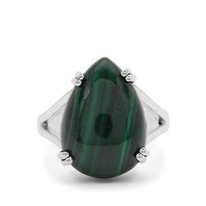 11.65ct Malachite Sterling Silver Aryonna Ring