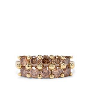 1.70ct Champagne Diamond 9K Gold Tomas Rae Ring