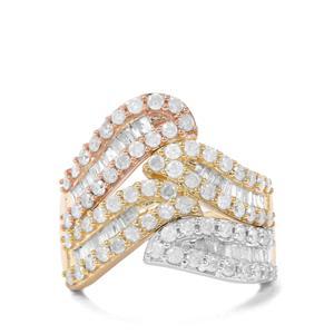 1.50ct Diamond 9K Three Tone Gold Tomas Rae Ring