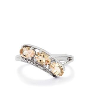 1.24ct Zambezia Morganite Sterling Silver Ring
